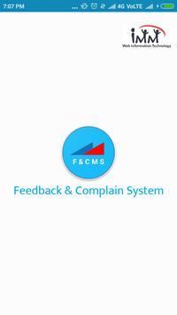Feedback & Complain Management System poster