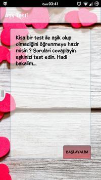 Aşk Testi poster