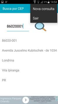 Busca por CEP apk screenshot