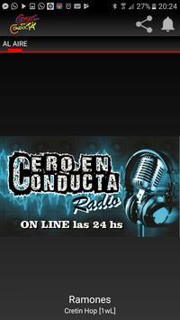 Cero en Conducta Radio poster