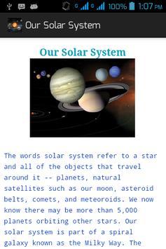 Our Solar System apk screenshot