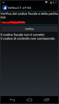 Verifica C.F. e P.IVA apk screenshot