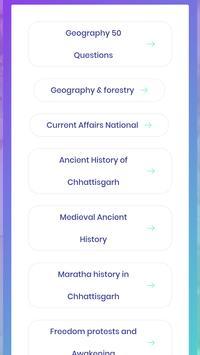 Chhattisgarh Objective Quiz GK screenshot 3