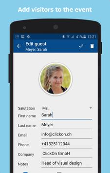 guest list for check in at events apk download free business app