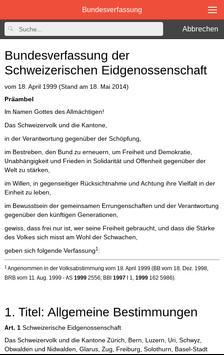 Bundesverfassung BV Schweiz poster