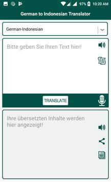 German Indonesian Translator screenshot 3