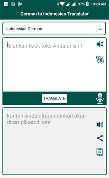 German Indonesian Translator poster