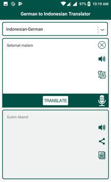 German Indonesian Translator screenshot 2
