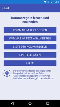 Kommaregeln Deutsch poster