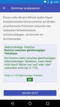 Kommaregeln Deutsch apk screenshot
