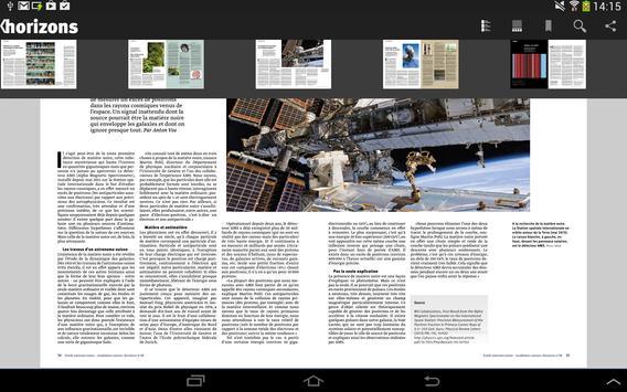 Research magazine Horizons apk screenshot