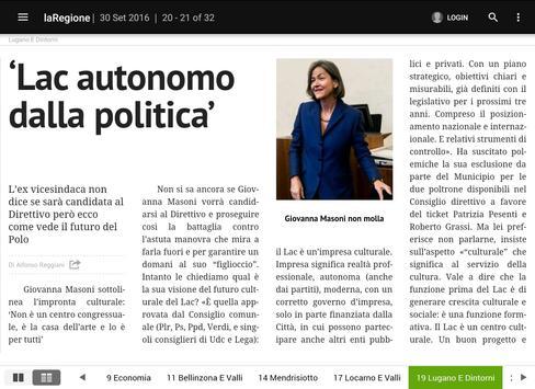 laRegione giornale apk screenshot