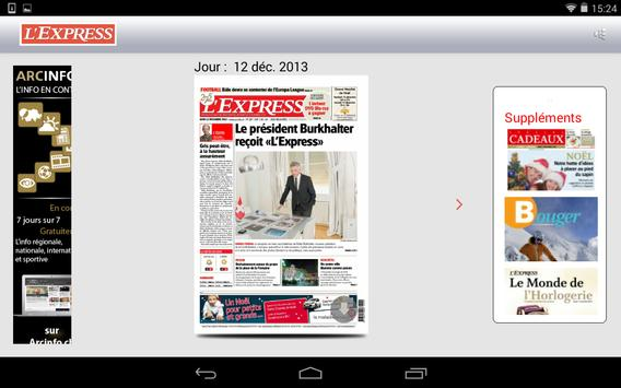 L'Express journal apk screenshot