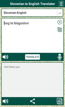 Slovenian English Translator screenshot 1
