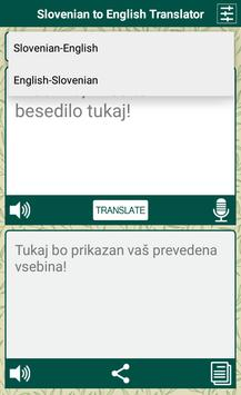 Slovenian English Translator screenshot 2
