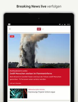 SRF News - Nachrichten, Videos und Livestreams apk screenshot