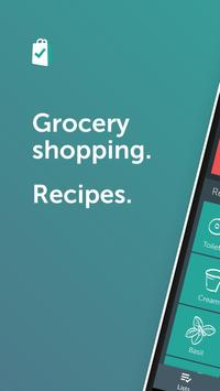 Bring! Grocery Shopping List poster