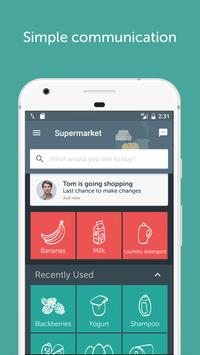 Bring! Grocery Shopping List apk screenshot