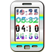 Yaclock digital clock Widget icon