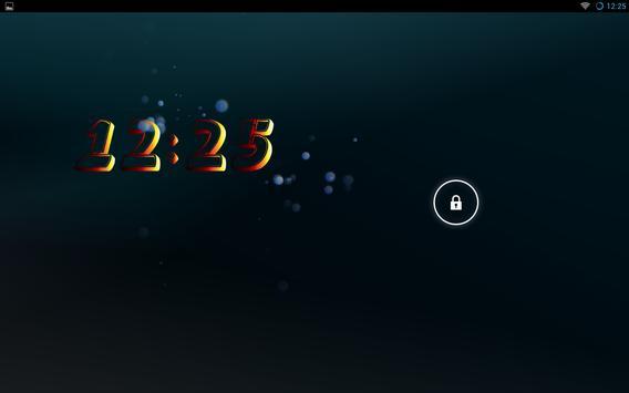 Yaclock digital clock Widget apk screenshot