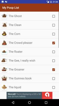 My Poop List apk screenshot