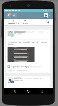 Humhub screenshot 2