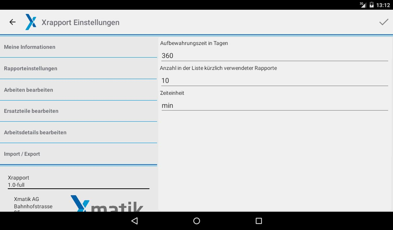 Xrapport - Arbeitsrapport Demo APK Download - Free Business APP for ...