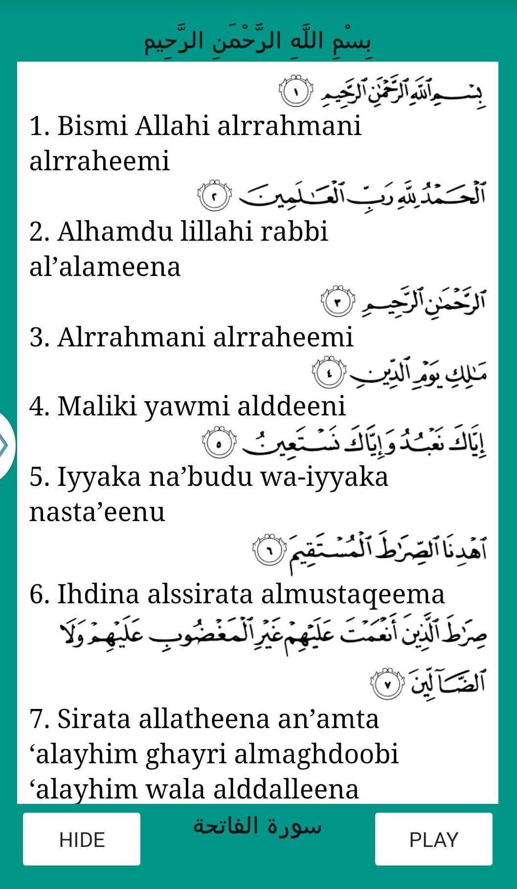 Surat Al Fatiha For Android Apk Download