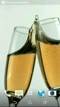 Champagne 3D Video LWP apk screenshot