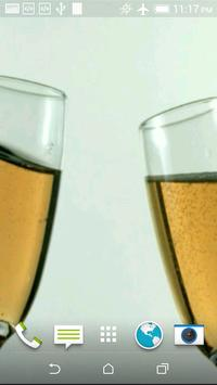 Champagne 3D Video LWP poster
