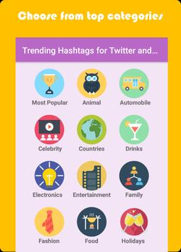 Trending Hashtags for Twitter and Instagram poster