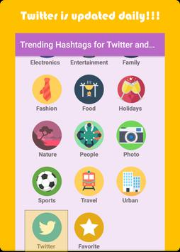 Trending Hashtags for Twitter and Instagram screenshot 1