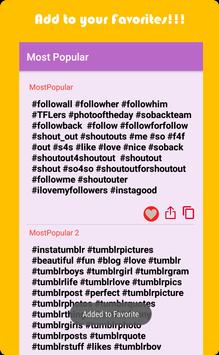 Trending Hashtags for Twitter and Instagram screenshot 2