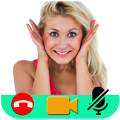 guide for Call Video Chat Live talk streaming girl icon