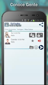 Chat Anónimo Gratis Español screenshot 1