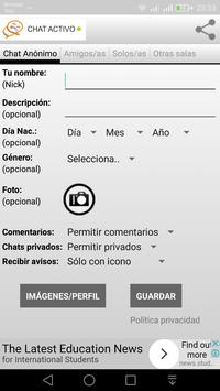 CHAT ANONIMO ESPAÑOL screenshot 1