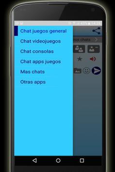 Chat juegos videojuegos gratis apk screenshot