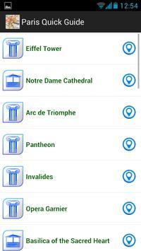 Paris quick guide screenshot 2