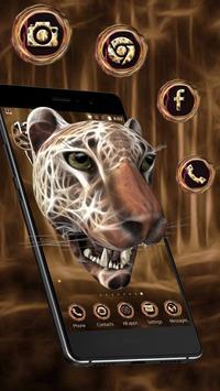 3D Neon Cheetah Theme poster