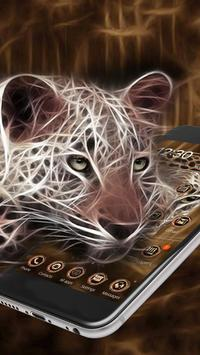 3D Neon Cheetah Theme screenshot 1