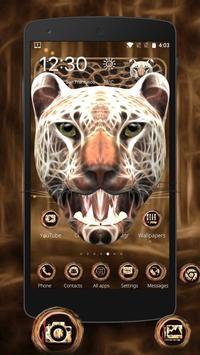 3D Neon Cheetah Theme screenshot 2