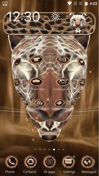 3D Neon Cheetah Theme screenshot 3