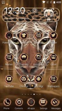 3D Neon Cheetah Theme screenshot 4
