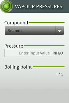 Vapour Pressures apk screenshot