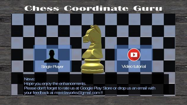 Chess Coordinate Guru poster