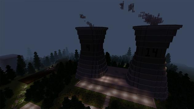Chernobyl Map for Minecraft poster