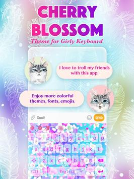 Cherry Blossom Keyboard Theme for Girls poster