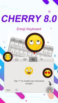 Cherry 8.0 Theme&Emoji Keyboard screenshot 3