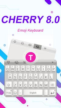 Cherry 8.0 Theme&Emoji Keyboard poster