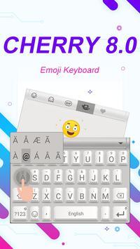Cherry 8.0 Theme&Emoji Keyboard screenshot 1